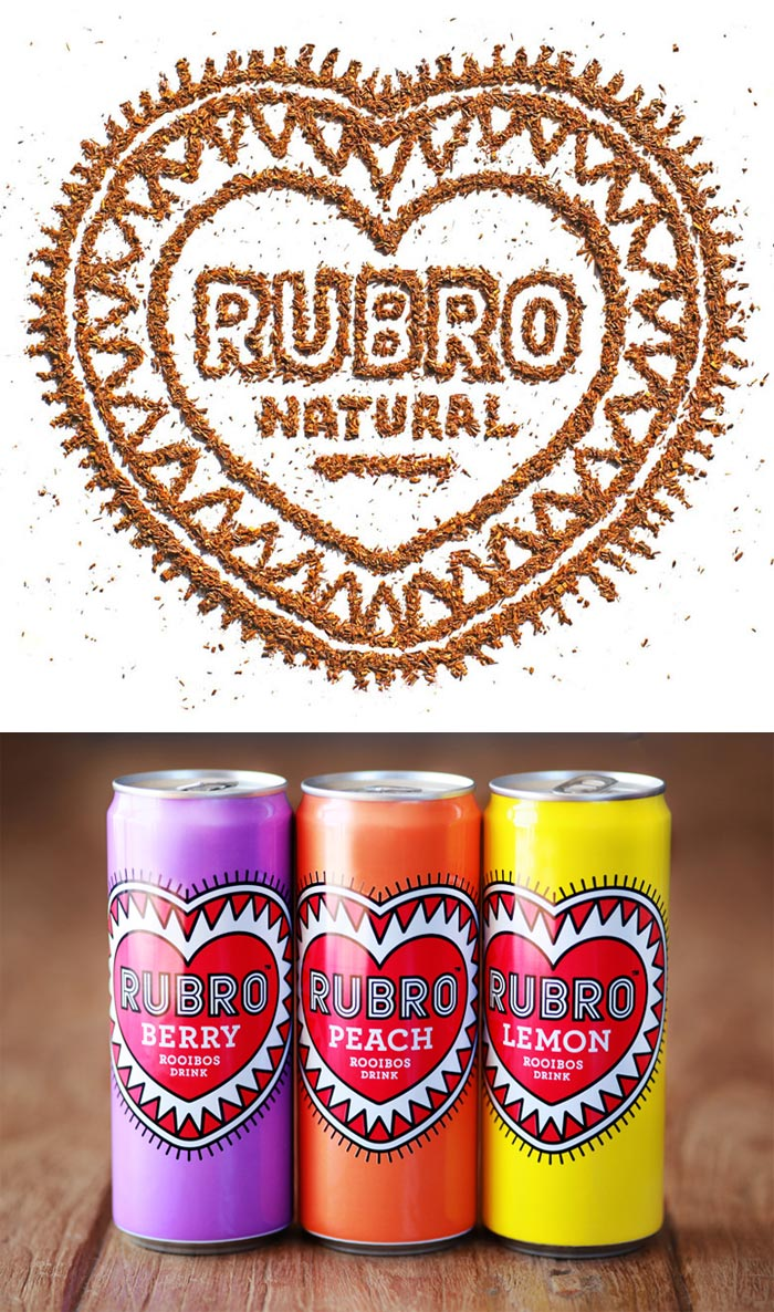 Simon Frouws / Packaging design & logo - Rubro Natural Drinks