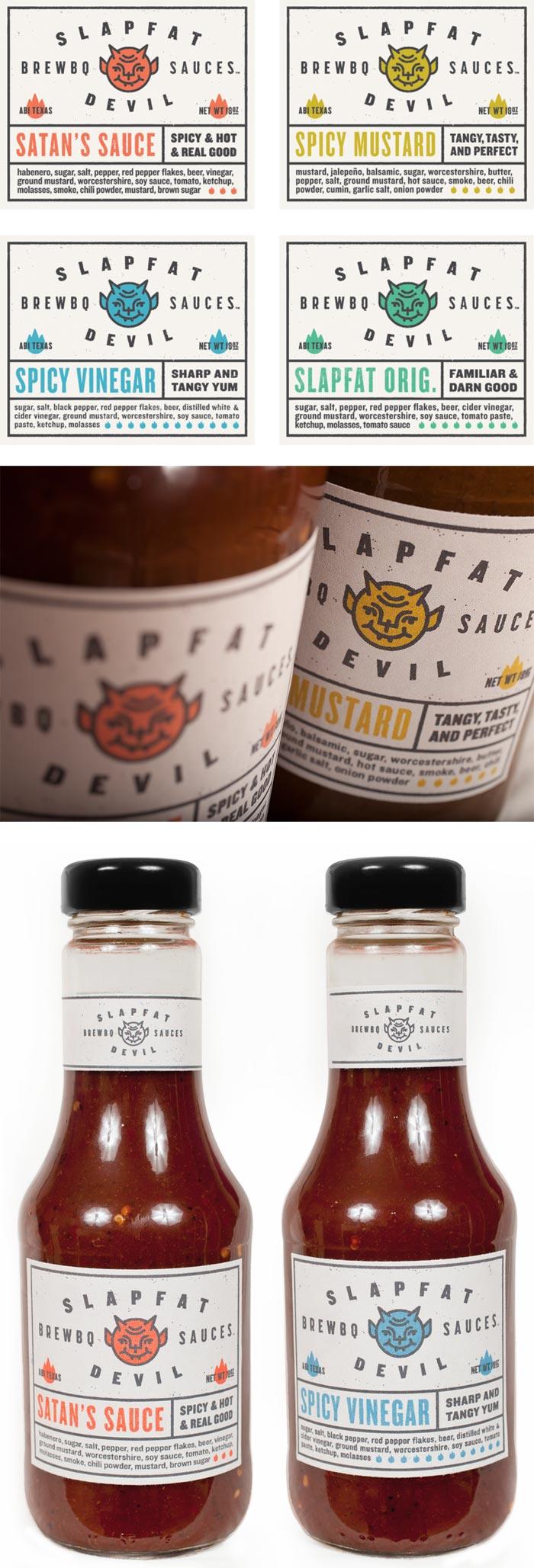 Ryan Feerer / Packaging design - Slapfat Brew-B-Q Sauce