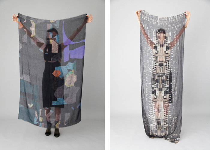 Scarves by Helen Dealtry / on Design Work Life