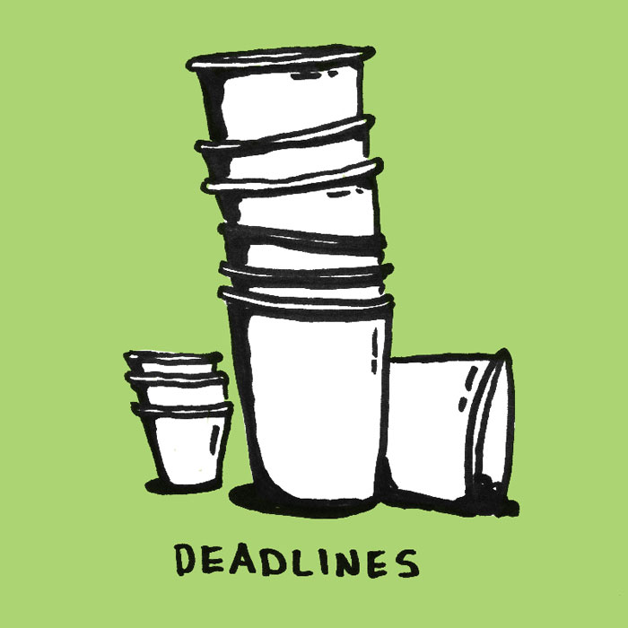 """The aftermath of a deadline…"""