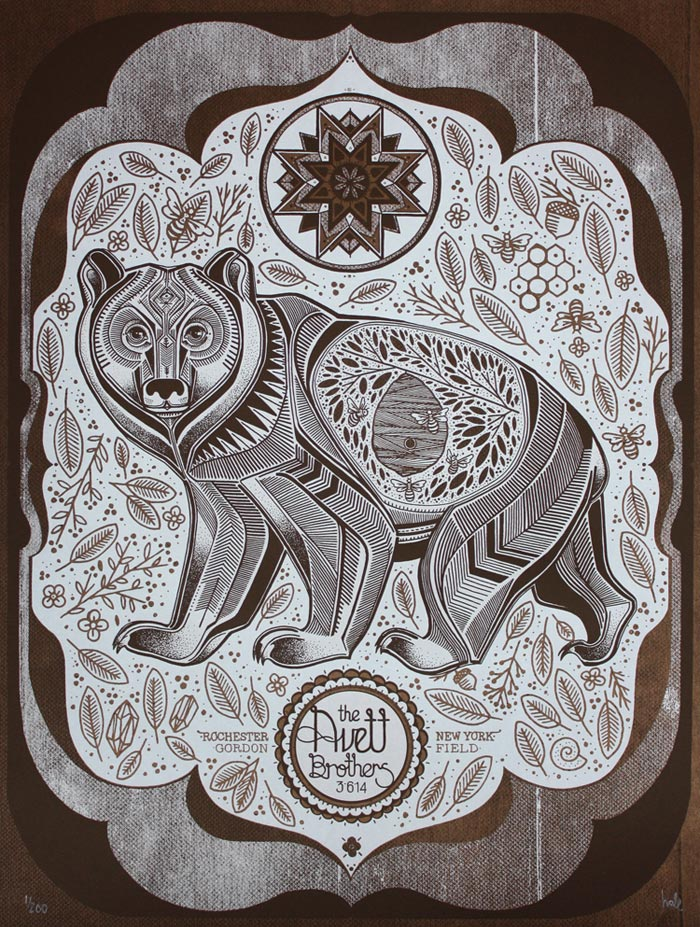 David Hale / Screen printed gig poster - Avett Brothers