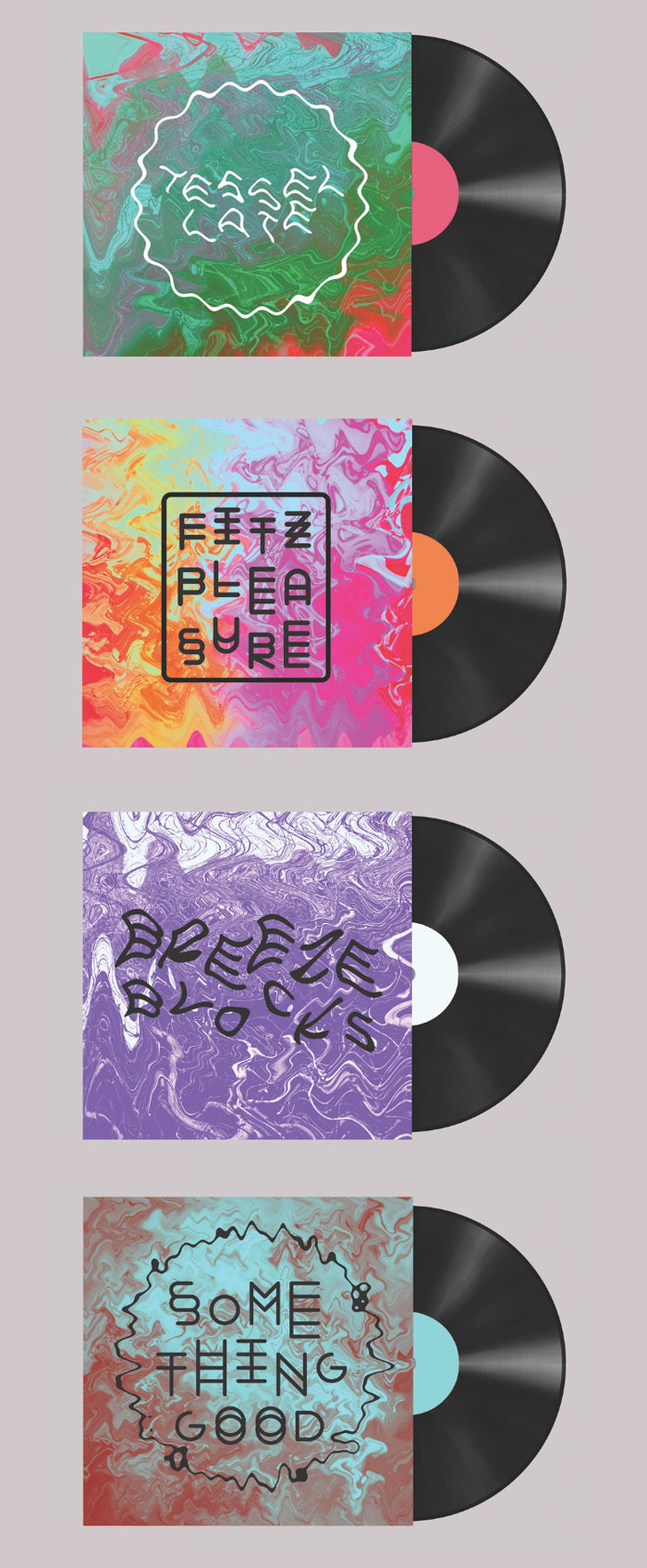 Eve Warren / Record sleeve design concepts - Alt-J