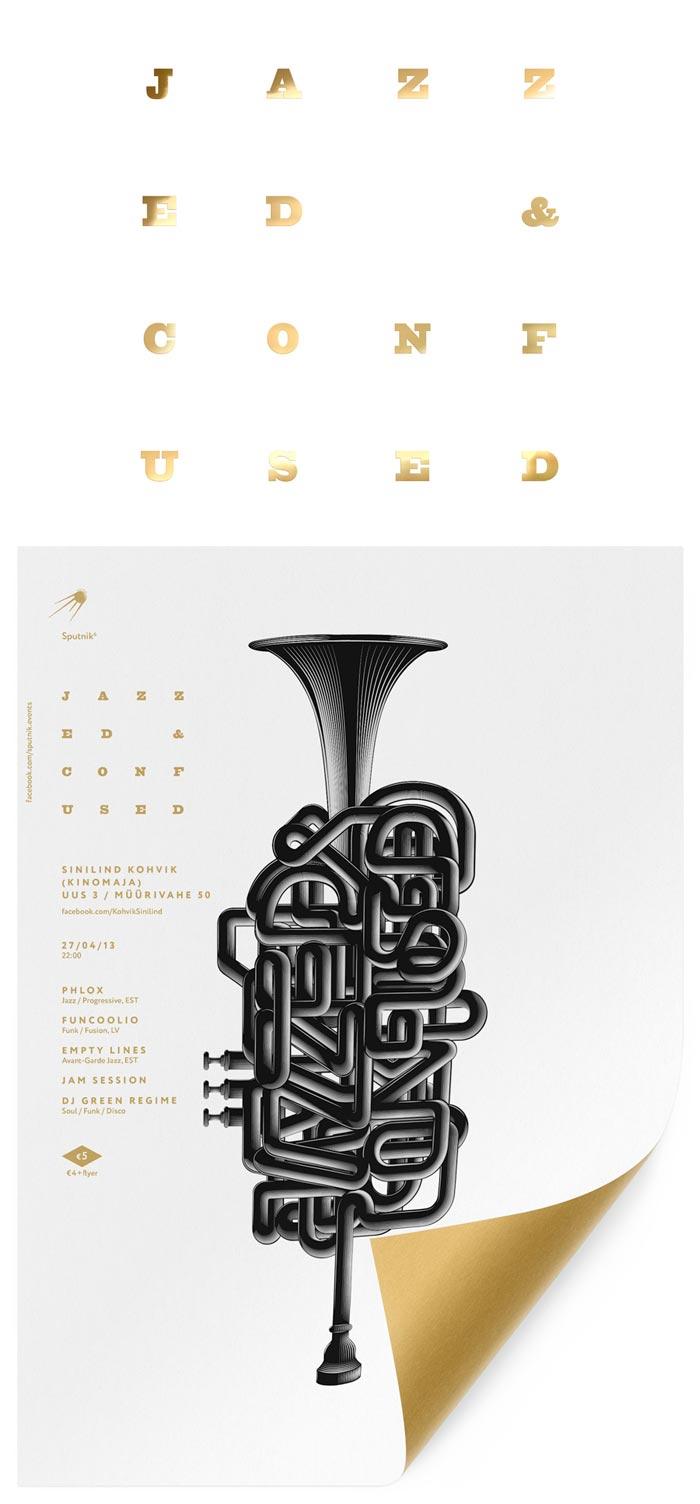 Anton Burmistrov / Poster design concept - Jazzed and Confused