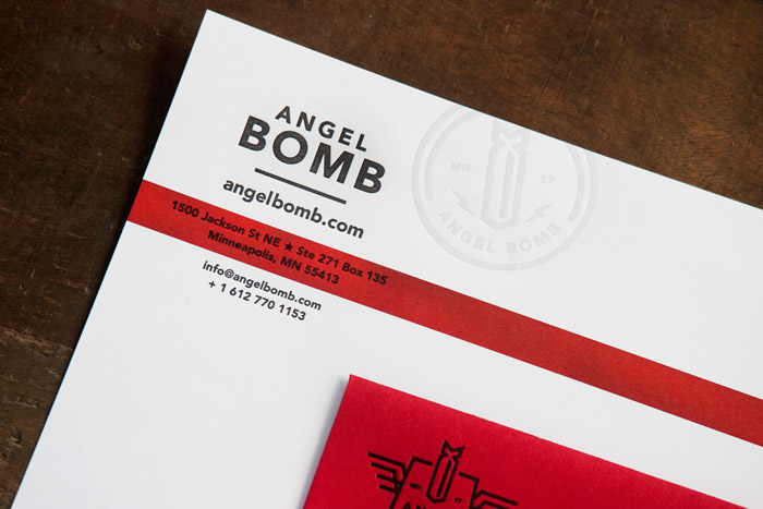 Angel Bomb Identity & Collateral