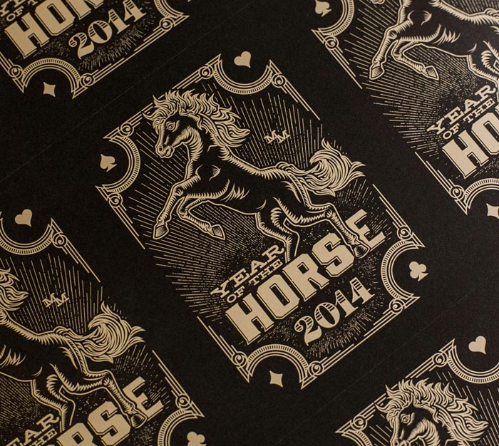 MM Identity Lab: Year of the Horse Card Deck Calendar / on Design Work Life