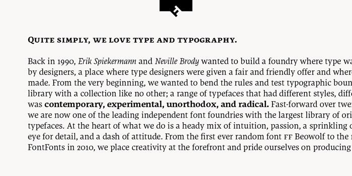 Type Love: FF Dora / on Design Work Life