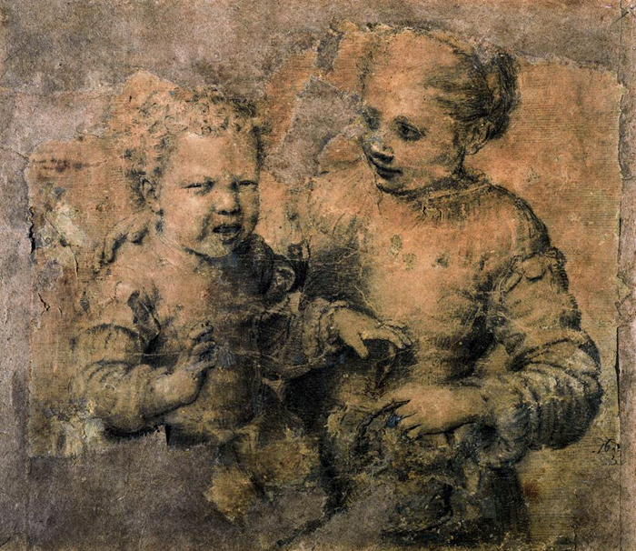 "Anguissola impressed Michelangelo with this rendition (1554) of his ""Asdrubale Bitten by a Crawfish"""