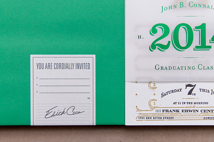 Juan Coca: CHS 2014 Commencement Invitation / on Design Work Life