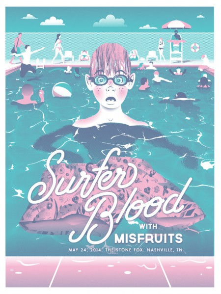 Tim Cook / Illustration, hand-drawn type & poster design - Surfer Blood