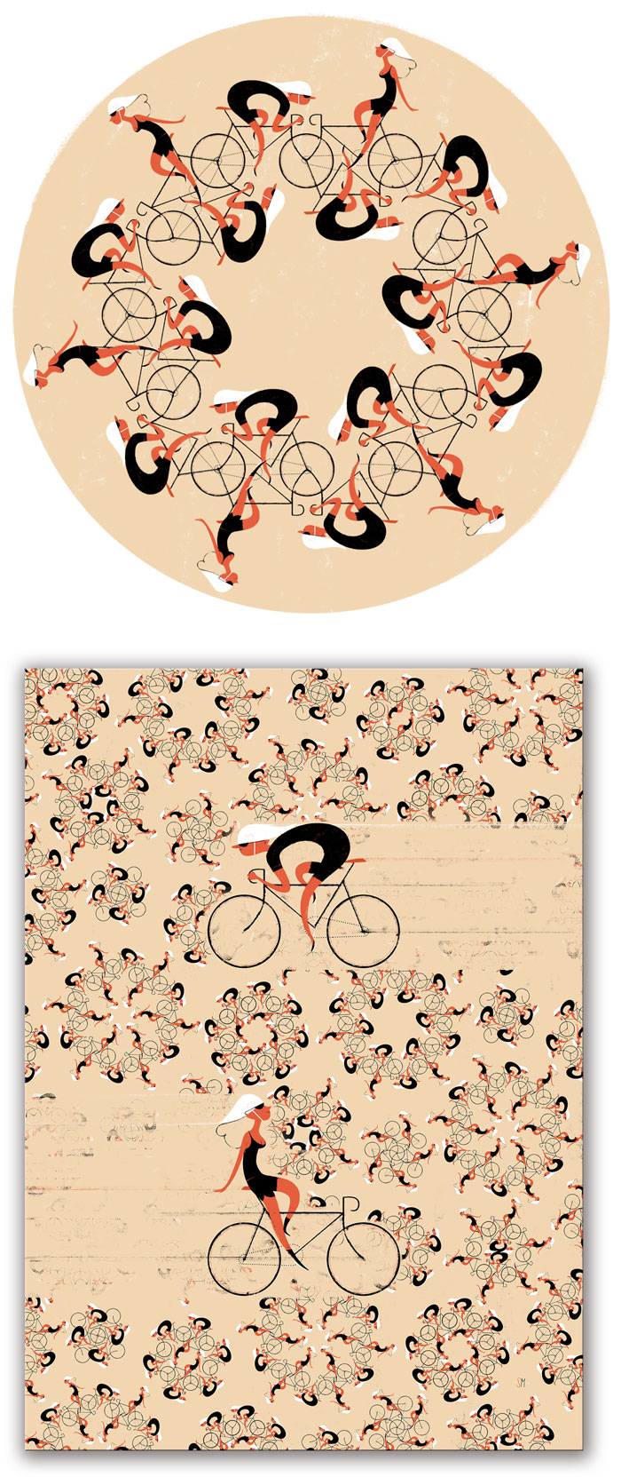 Simone Massoni / Pattern & poster design - Bicycle Film Festival