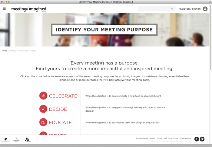 Marriott Meetings Imagined / on Design Work Life