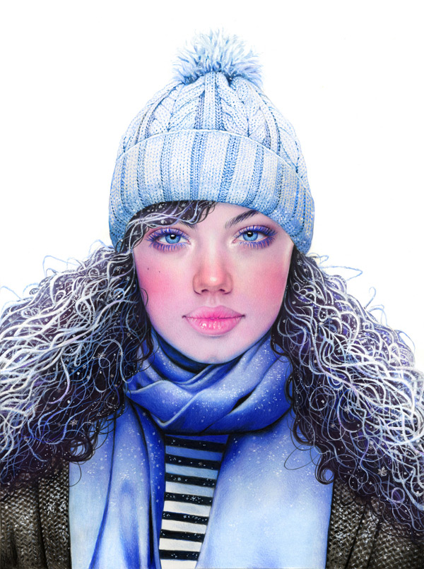 Morgan Davidson: Colored Pencil Season Girls / on Design Work Life