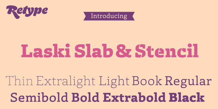 Type Love: Laski Slab / on Design Work Life